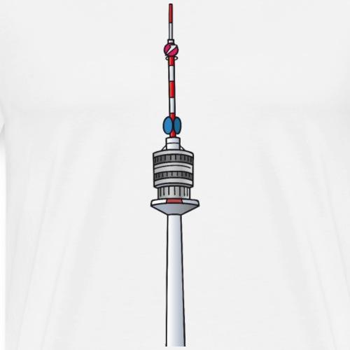 Torre sul Danubio Vienna c - Maglietta Premium da uomo