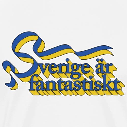 Sverige är fantastiskt - Premium-T-shirt herr