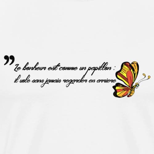 Papillon de bonheur - T-shirt Premium Homme