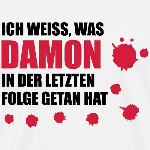 Ich weiß was Damon - Männer Premium T-Shirt