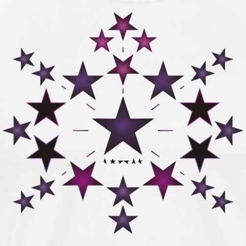 Purple stars - Men's Premium T-Shirt