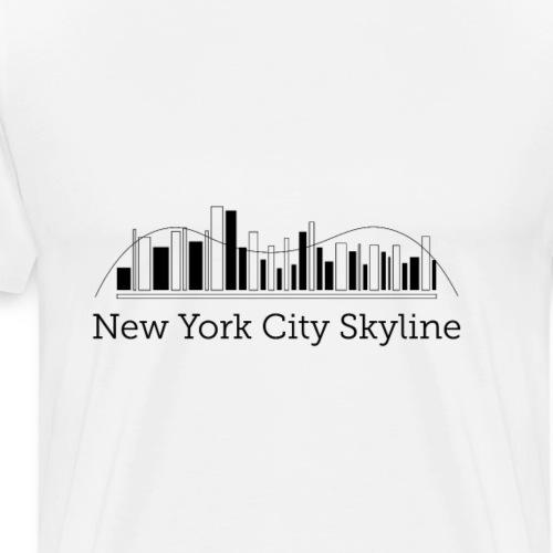 ny skyline - Premium-T-shirt herr
