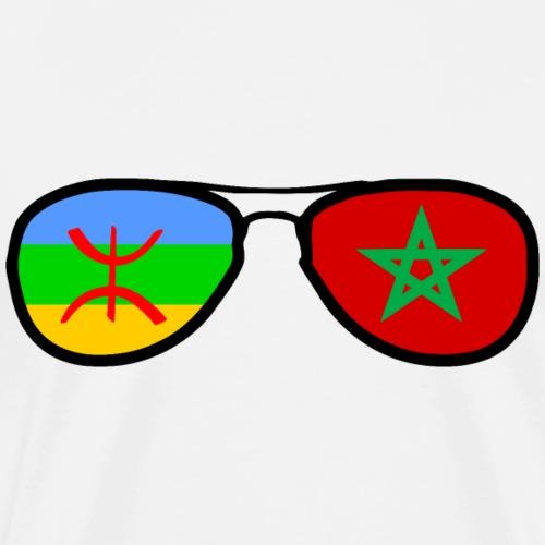 Morocco Amazigh flag - glasses - Men's Premium T-Shirt