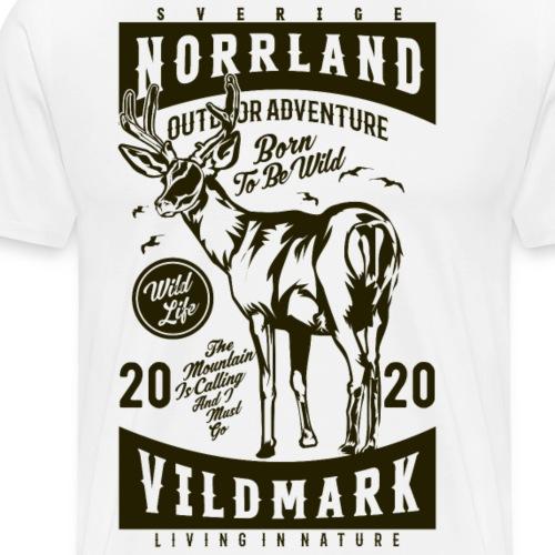 Norrland Vildmark 2020 Dark - Premium-T-shirt herr