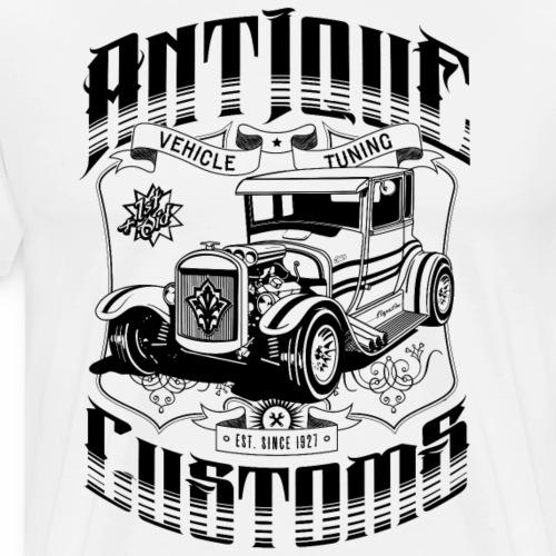 Hot Rod - Antique Customs (black) - Men's Premium T-Shirt