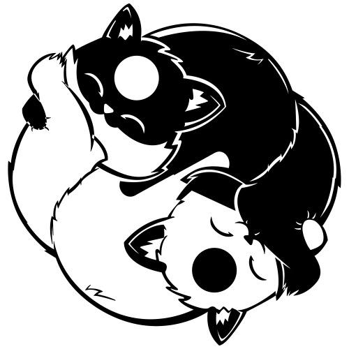 Yin Yang Foxes - Männer Premium T-Shirt