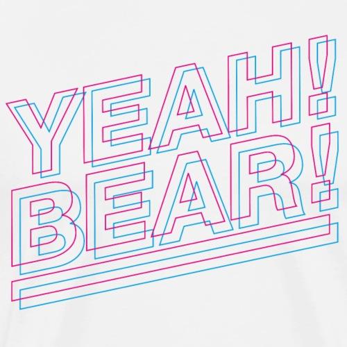 Yeah Bear Layers - Männer Premium T-Shirt