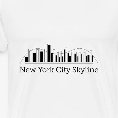 ny skyline - Maglietta Premium da uomo