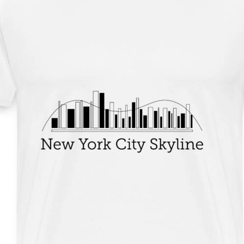 ny skyline - Men's Premium T-Shirt
