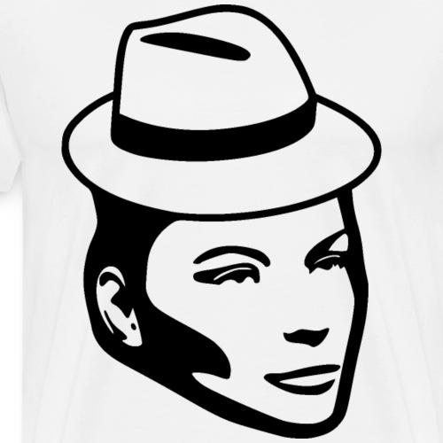 Frau mit Hut - Männer Premium T-Shirt