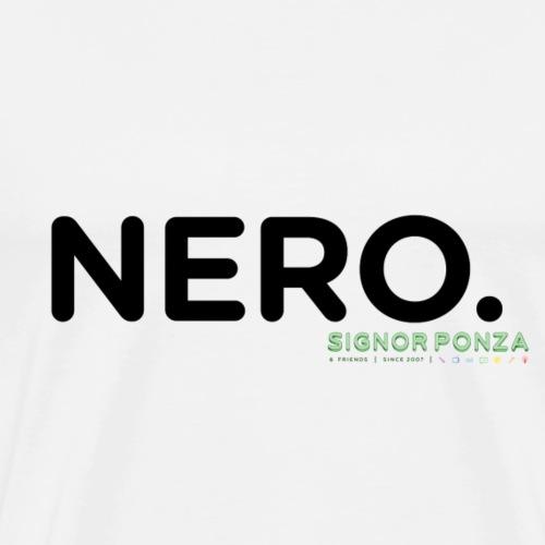NERO. - Maglietta Premium da uomo