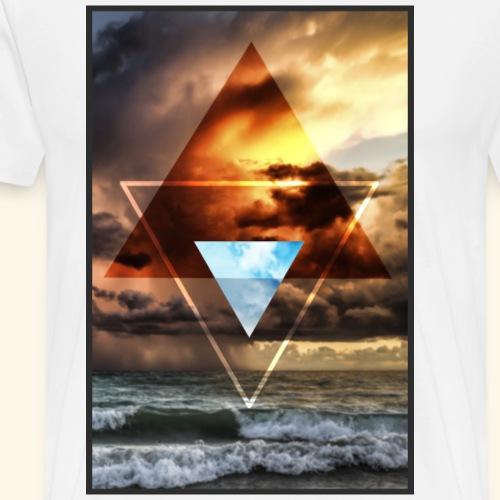 Sky Triangles - Männer Premium T-Shirt