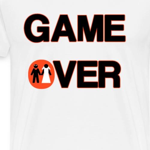 Addio al celibato - Game over rosso - Maglietta Premium da uomo