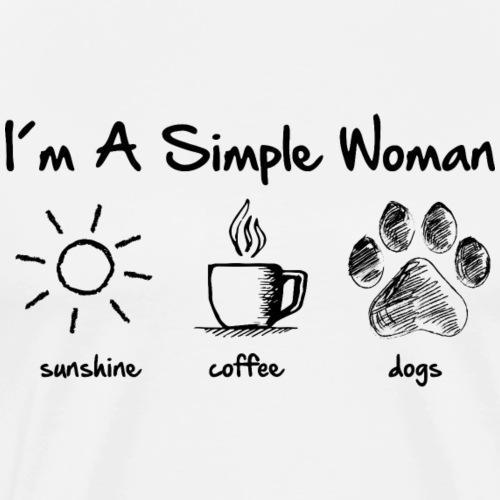 simple woman dog - Men's Premium T-Shirt