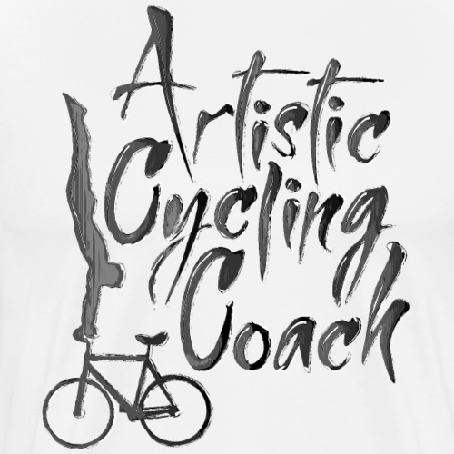 Kunstrad | Artistic Cycling Coach gray - Männer Premium T-Shirt