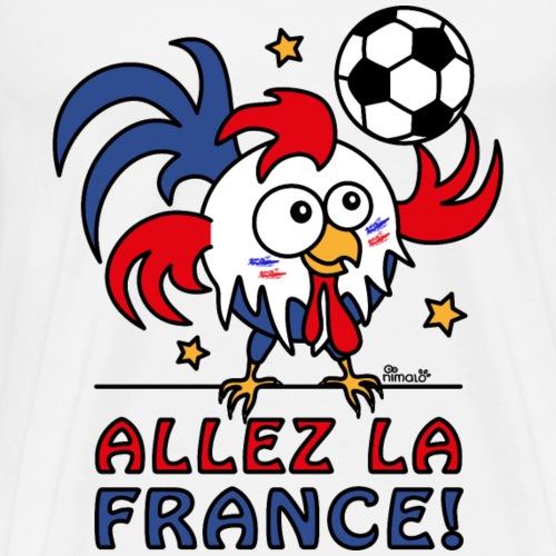 Coq Gaulois Foot Allez La France - T-shirt Premium Homme
