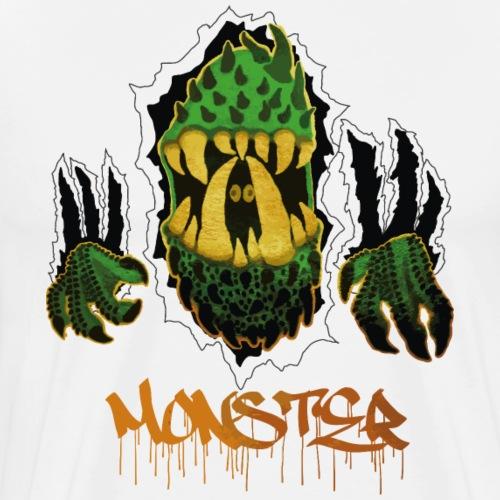Grön Monster 2k - Premium-T-shirt herr