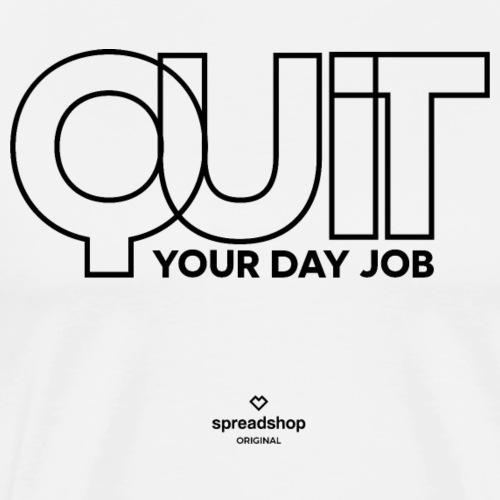 Quit in black - Men's Premium T-Shirt