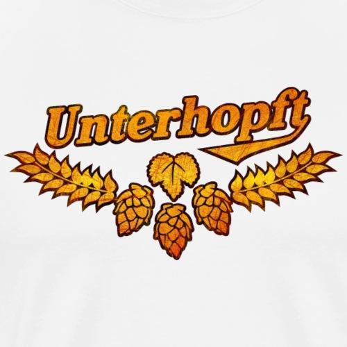 Unterhopft - das Original, gold, distressed - Männer Premium T-Shirt