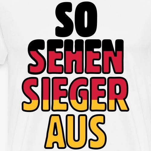 So sehen Sieger aus Deutschland aus (dreifarbig) - Männer Premium T-Shirt
