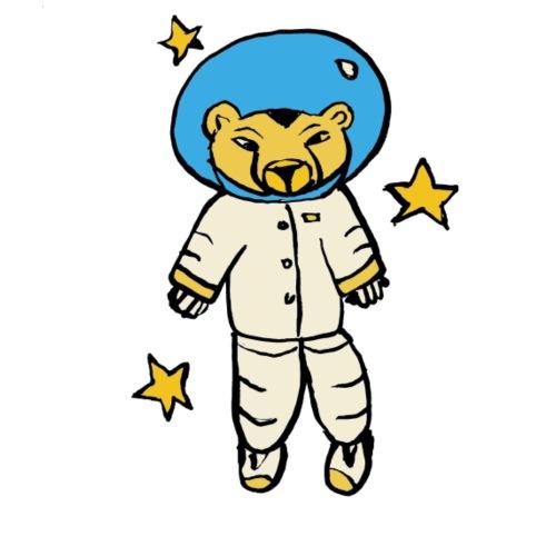 Cheetah cosmonaut - Men's Premium T-Shirt