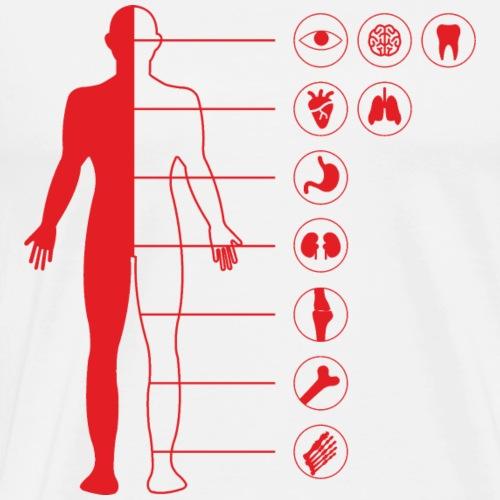Ludzkie ciało - Koszulka męska Premium
