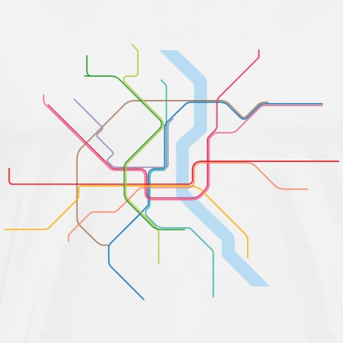 Subway Cologne (hell) - Männer Premium T-Shirt