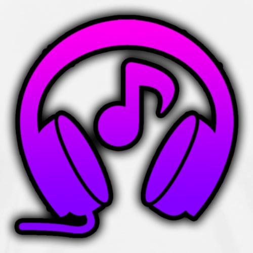 MJMusic Logo   Purple - Men's Premium T-Shirt