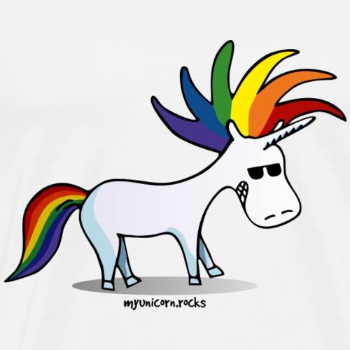 Punk Unicorn, Punky Unicorn - Men's Premium T-Shirt