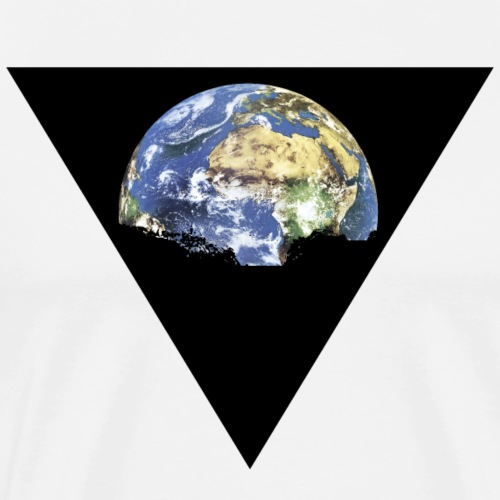World in a Triangle for Hipster - Männer Premium T-Shirt