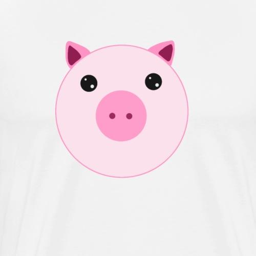 Schweinchen Schwein   Design Zeichnung - Männer Premium T-Shirt