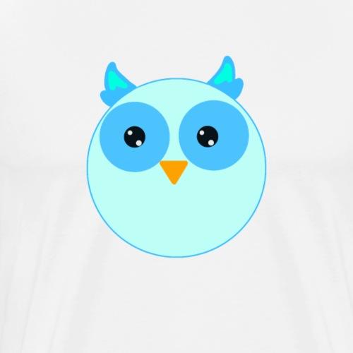 Eule Uhu   Design Zeichnung - Männer Premium T-Shirt