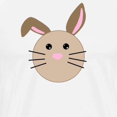 Häschen Hase   Design Zeichnung - Männer Premium T-Shirt