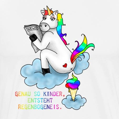 Einhorn Eis | Fabel Fabelwesen Eiscrem Waffel - Männer Premium T-Shirt