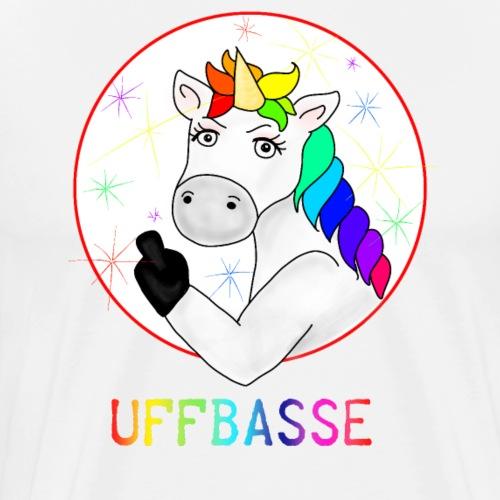 Einhorn Uffbasse | aufpassen Achtung - Männer Premium T-Shirt
