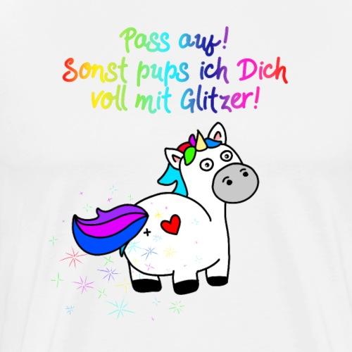 Einhorn Glitzer Pups | Einhornpups - Männer Premium T-Shirt