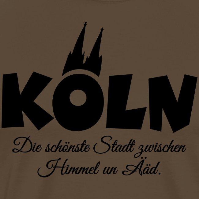 Köln Stadt zwischen Himmel un Ääd Schwarz