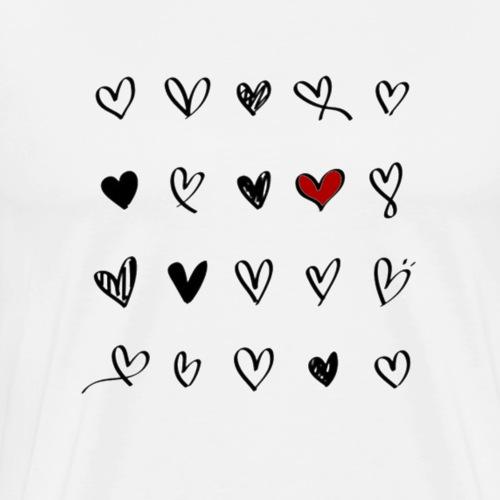 valentines hearts - T-shirt Premium Homme
