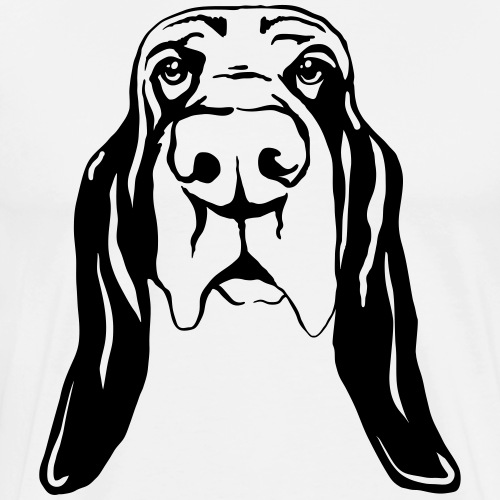 Bassetkopf - Männer Premium T-Shirt