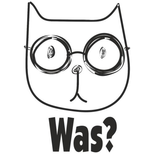 Katze mit Brille fragt Was? - Männer Premium T-Shirt