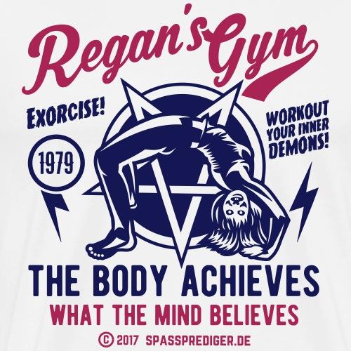 Horror Film T Shirt Design Exorcise in Regan's Gym - Männer Premium T-Shirt