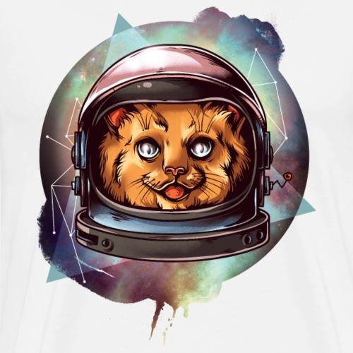 Gatto Astronauta Cat Comico Divertente - Maglietta Premium da uomo