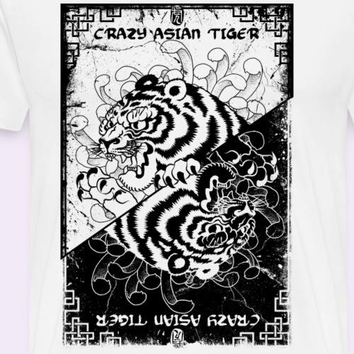 Crazy asian tiger grunge