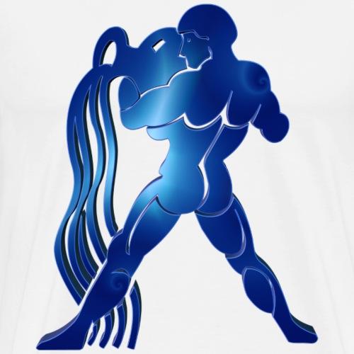 Zodiac Aquarius The Water-Bearer 12 February - 14 - Men's Premium T-Shirt