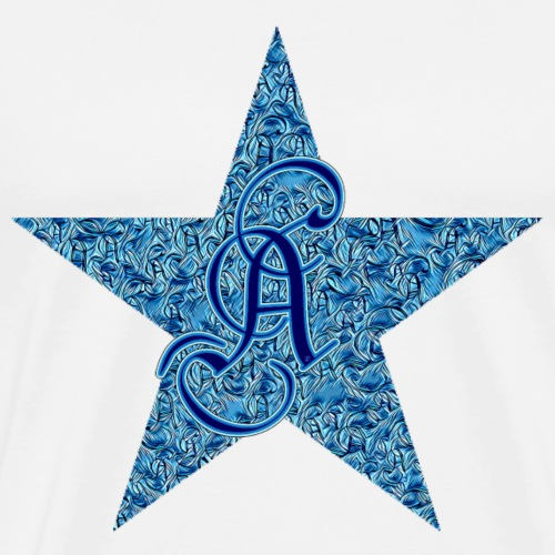 Letter A in a blue star