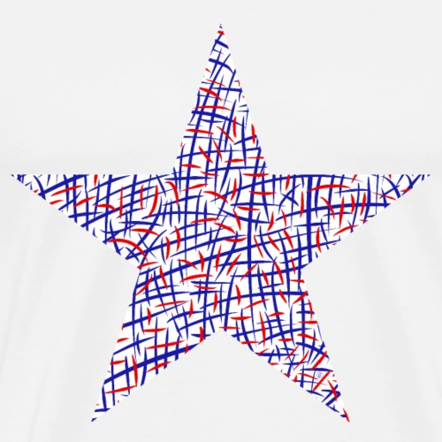 Blue and red lines star