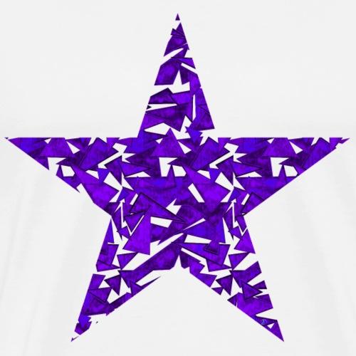 Purple triangles in a star
