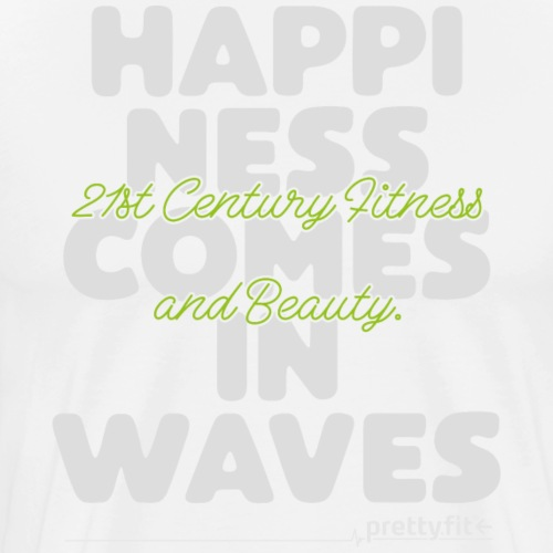 Happiness comes in waves - Männer Premium T-Shirt
