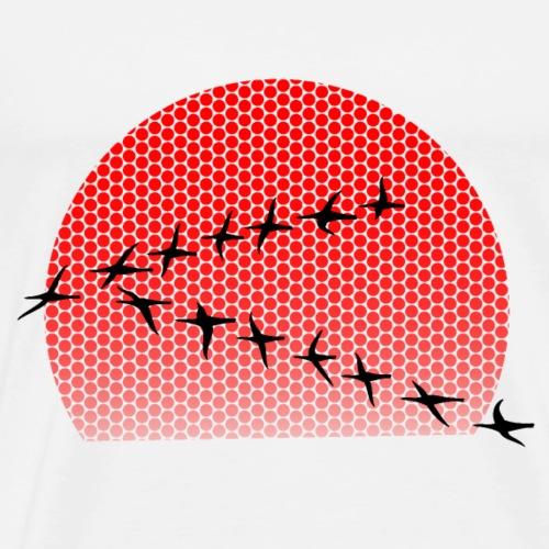 Dots Sonnenuntergang - Männer Premium T-Shirt