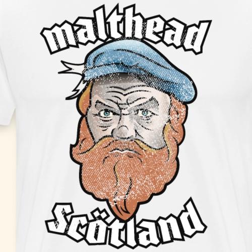 Whisky T-Shirt Malthead for Whisky Fans - Männer Premium T-Shirt